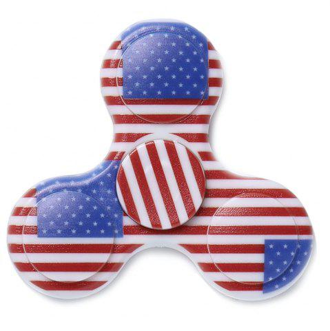 Outfits Stress Reliever National Flag Patriotic Patterned Fidget Spinner - BLUE  Mobile
