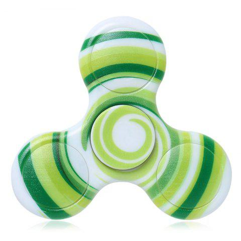 Outfits Plastic Patterned Fidget Spinner Anti-stress Plathing GREEN