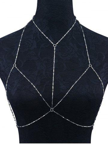 Outfits Geometric Circle Embellished Bra Body Chain SILVER