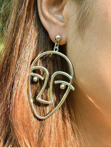 New Funny Metal Face Drop Earrings