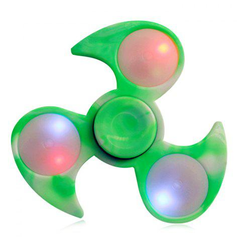 Online Fiddle Toy Tri-bar Fidget Spinner with Flashing LED Lights