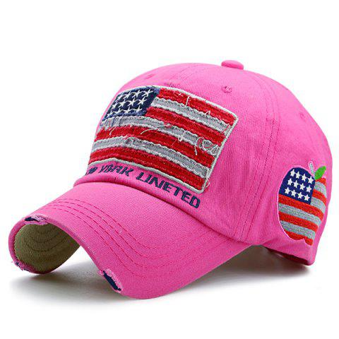 Letters Embroidered US Flag Patchwork Baseball Hat - Tutti Frutti