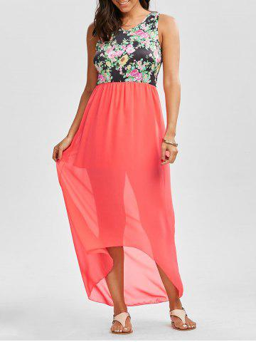 Robe Maxi Low Low Floral Tangerine S