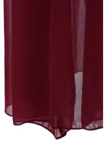 New Maxi Lace Top Sleeveless Prom Formal Dress - S DEEP RED Mobile