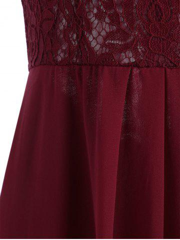 Outfits Maxi Lace Top Sleeveless Prom Formal Dress - S DEEP RED Mobile