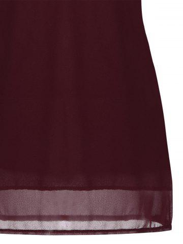 Shops Crochet Lace Panel Cut Out Sleeveless Dress - 2XL WINE RED Mobile