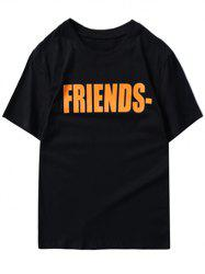 Short Sleeve Friends Printed T-shirt