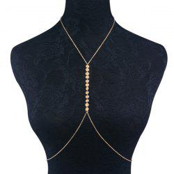 Adjustable Sequin Alloy Body Chain -