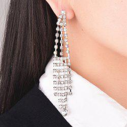 A Pair of Rhinestoned Tassel Earrings