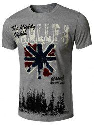 Graphic Printed Applique Tee