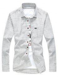 Casual Grid Check Long Sleeve Shirt