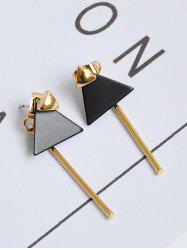 Geometric Triangle Bar Front Back Earrings