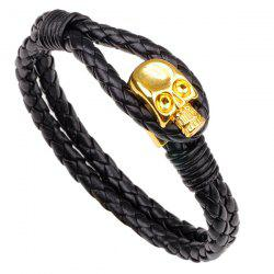 Punk Skull Faux Leather Braided Braided -