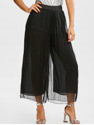 High Waisted Layer Palazzo Pants