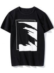 Abstract Print Short Sleeve Tee