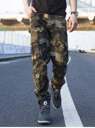 Muti-pocket Camouflage Cargo Pants - COFFEE