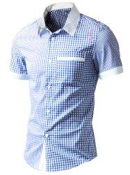 Asymmetric Pocket Gingham Shirt