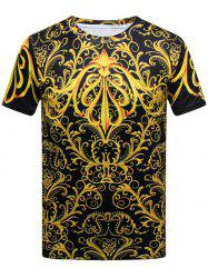 Royal Print Short Sleeve T-shirt - COLORMIX