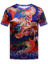 Dragon Pattern Short Sleeve T-shirt