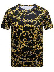 Chains Printed Short Sleeve T-shirt