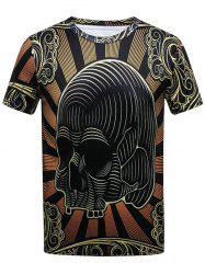 Skull Printed Short Sleeve T-shirt