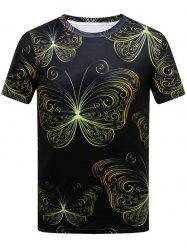 Butterfly Print Short Sleeve T-shirt