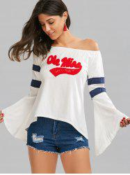Graphic Bell Sleeve Tee