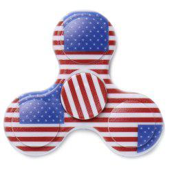 Stress Reliever National Flag Patriotic Patterned Fidget Spinner - BLUE