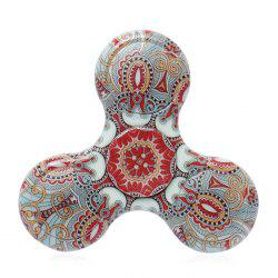 Fiddle Toy Plastic Tri-bar Mandala Patterned Fidget Spinner