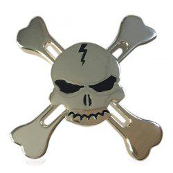 Skull Finger Gyro Stress Relief Toy Pirates Alloy Fidget Spinner