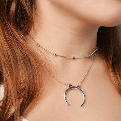 Alloy Moon Chain Collarbone Necklace Set