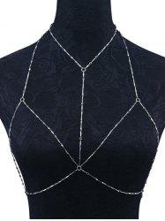 Geometric Circle Embellished Bra Body Chain - SILVER