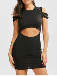 Cut Out Bodycon Cold Shoulder Dress