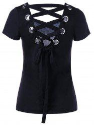 Lace Up Tie Back T-shirt