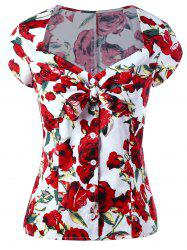 Button Up Sweetheart Neck Floral Gothic Blouse