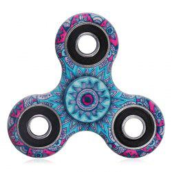 Mandala Patterned Tri-bar Plastic Fidget Spinner