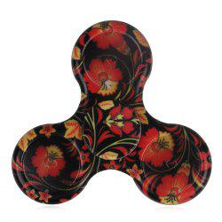 Floral Patterned Tri-bar Plastic Hand Spinner with LED Lights