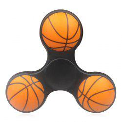 Anti-stress Toy Tri-bar Plastic Basketball Fidget Spinner - BLACK
