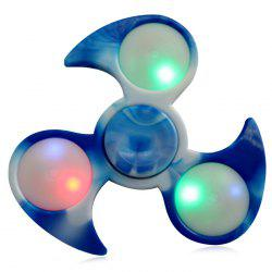 Fiddle Toy Tri-bar Fidget Spinner with Flashing LED Lights -
