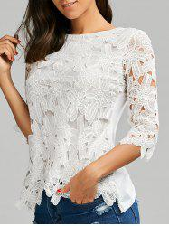 Crochet Lace Panel Top - WHITE
