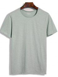 Short Sleeve Round Neck Plain Tee