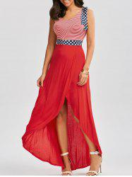 Patriotic High Low Dress - COLORMIX