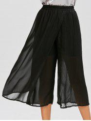 Chiffon Pleated Wide Leg Palazzo Pants