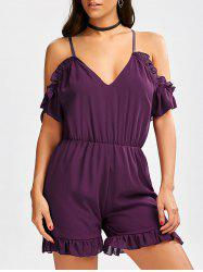 Chiffon Cold Shoulder Romper