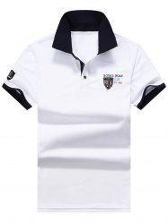 Union Jack Embroidered Polo Shirt