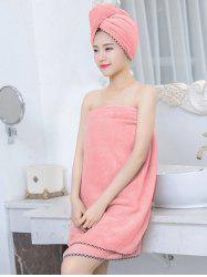 Pineapple Grid 3PCS Coral Fleece Soft Bath Towel Set