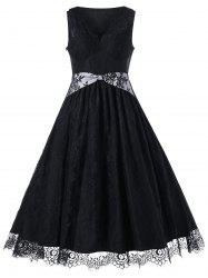 Vintage Lace Tea Length Dress