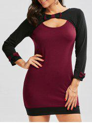 Cut Out Long Sleeve Mini Bodycon Dress