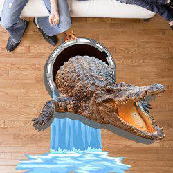 Removable Vinyl 3D Crocodile Mouse Water Wall Sticker