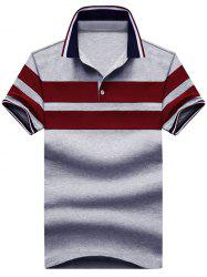 Half Button Stripes Polos
